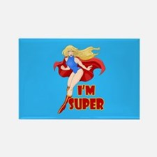 Woman Super Hero Flying With Cape Magnets