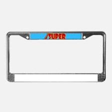 Woman Super Hero Flying With C License Plate Frame