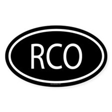 RCO Oval Decal