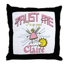 Angelic Claire Throw Pillow