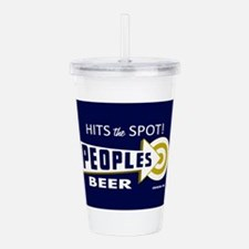 Peoples Beer Rectangle Acrylic Double-wall Tumbler