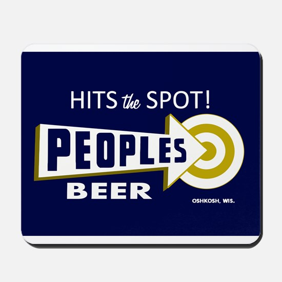 Peoples Beer Rectangle label Mousepad