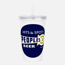 Peoples Beer Round lab Acrylic Double-wall Tumbler