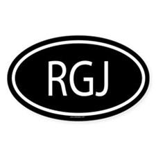 RGJ Oval Decal