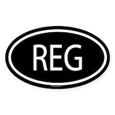 REG Oval Decal