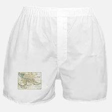 Vintage Map of Lyon France (1900) Boxer Shorts