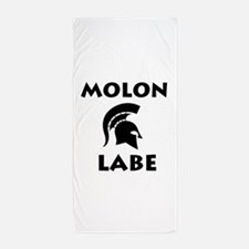 Spartan_BlackTransparent Beach Towel