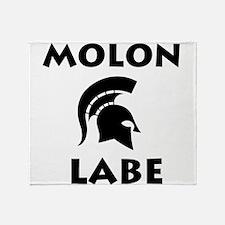 Spartan_BlackTransparent Throw Blanket
