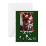 Christmas yorkie Greeting Cards (20 Pack)