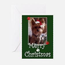 Yorkie Merry Christmas Greeting Cards (pk Of 20)