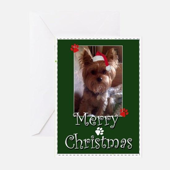 Yorkie Merry Christmas Greeting Cards (pk Of 20)
