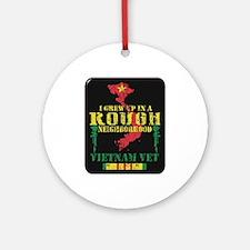 Rough Neighborhood Vietnam Round Ornament