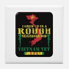 Rough Neighborhood Vietnam Tile Coaster