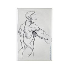 Male Nude Refrigerator Magnet