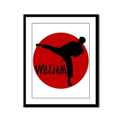 William Karate Framed Panel Print