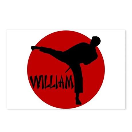 William Karate Postcards (Package of 8)