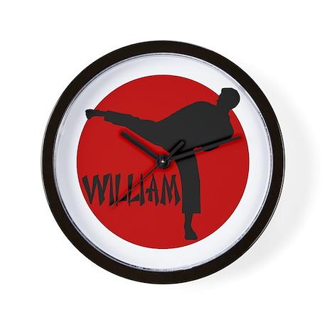 William Karate Wall Clock