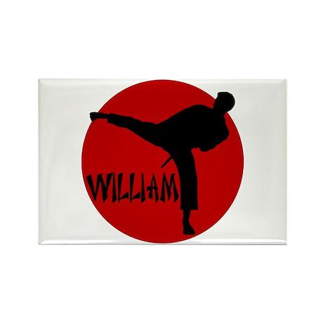 William Karate Rectangle Magnet
