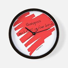 Peekapoo Love on 4 Legs Wall Clock