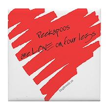 Peekapoo Love on 4 Legs Tile Coaster