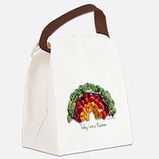 Rainbow Canvas Lunch Bag