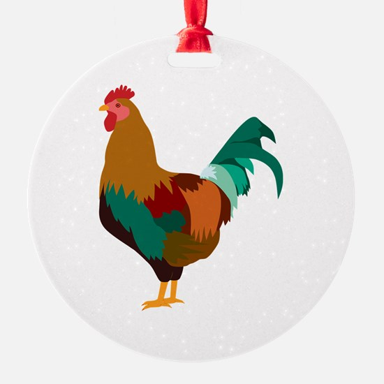 Rooster Art Ornament