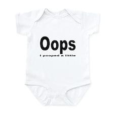 Oops I pooped Infant Bodysuit