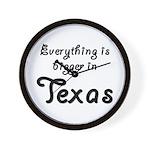 Bigger In Texas Wall Clock