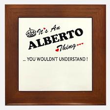 Cute Alberto Framed Tile