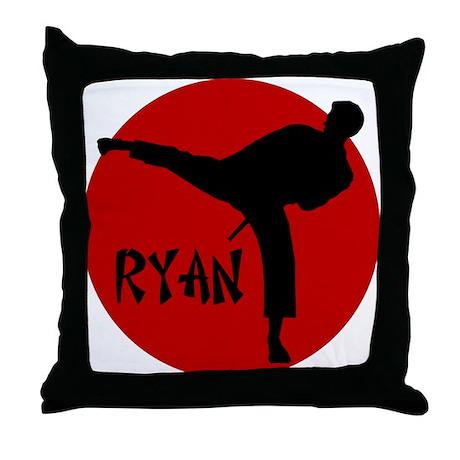 Ryan Karate Throw Pillow