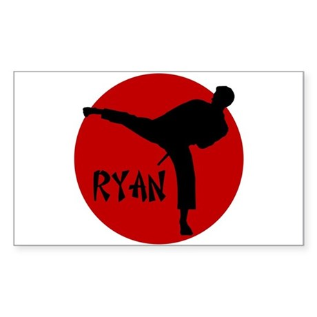 Ryan Karate Rectangle Sticker