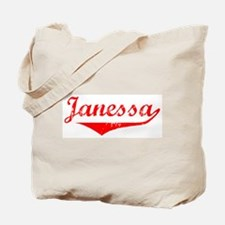 Janessa Vintage (Red) Tote Bag