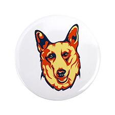 """Canaan Dog 3.5"""" Button"""