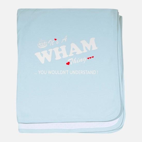 Cute Wham baby blanket