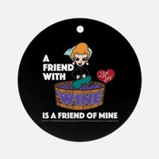 I Love Lucy: Wine Friend Round Ornament