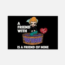 I Love Lucy: Wine Friend Rectangle Magnet