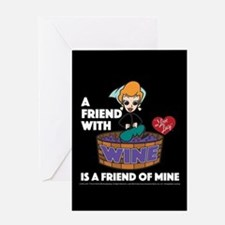 I Love Lucy: Wine Friend Greeting Card