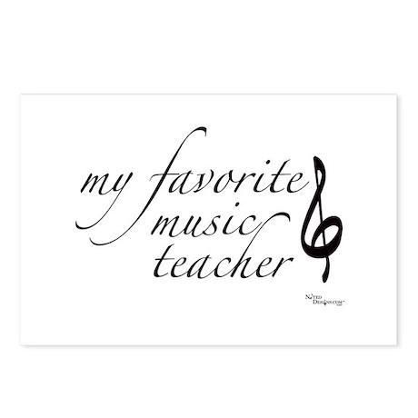 My Favorite Music Teacher Postcards (Package of 8)