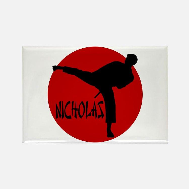 Nicholas Karate Rectangle Magnet