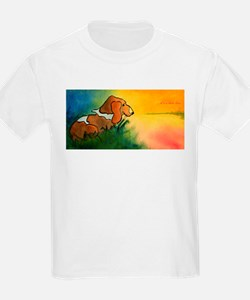 dog at sunrise - its a new day.jpg T-Shirt