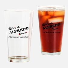 Funny Alfredo Drinking Glass