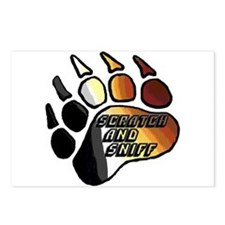 BEAR PRIDE PAW/SCRATCH/SNIFF Postcards (Package of