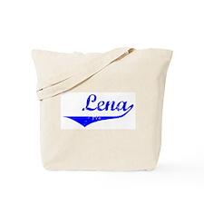 Lena Vintage (Blue) Tote Bag