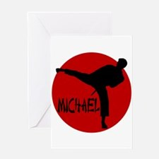 Michael Karate Greeting Card