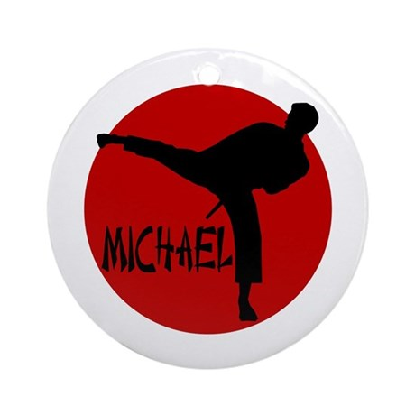 Michael Karate Ornament (Round)