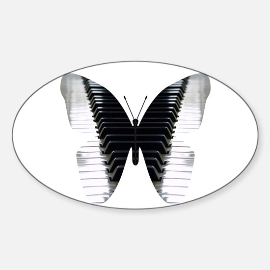 Butterfly Piano Decal