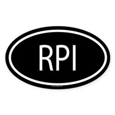 RPI Oval Decal