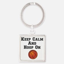 Cute Basketball boys Square Keychain