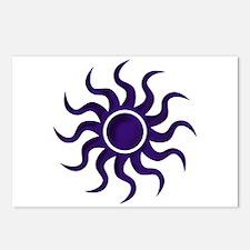 Purple Starburst Postcards (Package of 8)