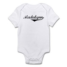Madalynn Vintage (Black) Infant Bodysuit